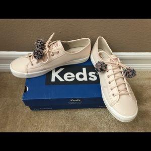 Keds Kickstart Pom Pom Sneakers Size 9.5